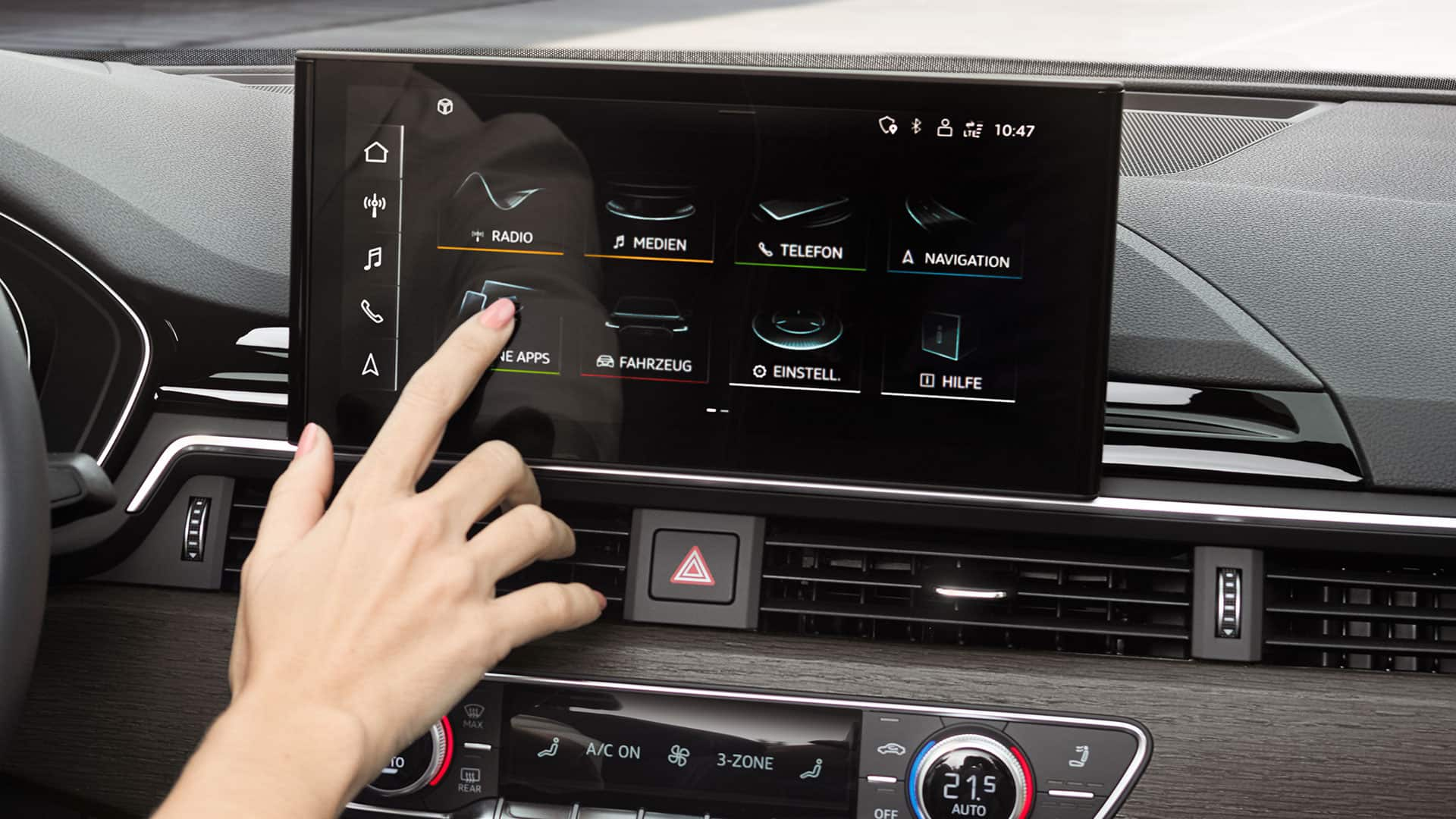 MMI touch-Display in the Audi A5 Coupé